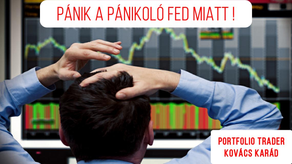 Pánik a pánikoló FED miatt!